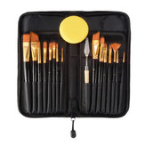 15PCS Nylon Hair Artist Paint Brushes Palette Sponge Set with Storage Case Watercolor Paint Acrylic Oil Painting Art supplies