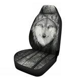 Universal 1Pcs Wolf Front Row Coche Cubiertas de asiento de camión Set Cojín protector