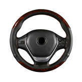 38cm Microfiber Leather Braiding Car Steering Wheel Case Cover Sports Style