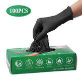 100 stuks Wegwerp Latex Handschoenen Reinigingswerk Vingerhandschoenen Latex Beschermend Home Food For Safety Zwart