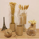Zakka Hemp Rope Glass Vase Flower Bottle Ornaments Flower Stem Dried Flowers Vase
