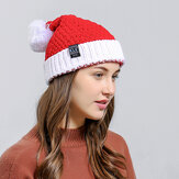 Women Christmas Knitted Hat Soft Slouchy Beanie Hat For Christmas Gift
