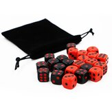 24Pcs Dice Game Gadget Red And Black Having Fun Dice Set For Bar KTV Karaoke Party Home Table Game With Storage Bag