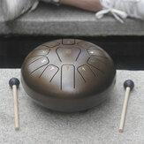 Tambor de língua de aço de 10 '' 11 notas Handpan Drumdrum Instrument + Bolsa & Mallets