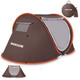 SGODDE Barraca para 2-3 pessoas Barraca de acampamento automática anti UV Barraca com toldo protetor solar à prova d'água ao ar livre