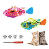 Pets Robotic Fish Activated Batería Powered Robotic Pet Toys para pesca Tank Decorating Fish