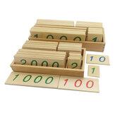 Babyspielzeug Montessori Math Digital Holzkarten mit Box Educational Early Learning Toys
