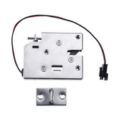 K6855 12V DC 2A Electric Magnetic Intelligent Cabinet Door Lock Fail Secure with Manual Unlock Handle