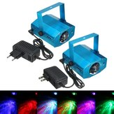 3W RGB LED Laser Projector Voice Activated Remote Stage Lighting for Club DJ Party Disco