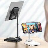 IPAKY Masaüstü 3-Port USB Şarj Cihazı Katlanabilir Yüksekliği Ayarlanabilir Telefon Tutucu Tablet Standı 4.0-12.9 İnç Akıllı Telefon Tablet iPhone 11 SE 2020 için iPad Pro 12.9 İnç 2020 Online Kurs Canlı Akış