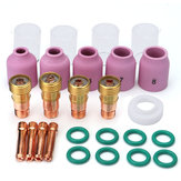 26Pcs TIG Welding Torch Stubby Gas lente # 10 Pyrex Cup Kit per Tig WP-17/18/26 Torch