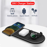 Bakeey 10W 3-in-1 Qi Wireless Charger Pad Fast Charging Holder Stand For iPhone 12 12Pro Huawei P30 P40 Pro Apple Watch 2 3 4 5 AirPods Pro