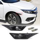Par Smoked Side Marker Luzes de Sinalização de Substituição com T10 LED Lâmpadas para Honda Civic 16-18