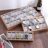 6/12/30 Slots Wooden Material Watch Box with Pillow Watch Display Storage