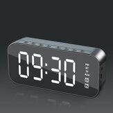 Bakeey Wireless bluetooth Speaker Mini LED Double Alarm Clock FM Radio TF Card AUX Soundbar Subwoofer