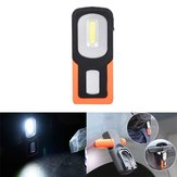 5W Portable COB LED USB Rechargeable Magnetic Work Light Folding Hook Tent Camping Torch Flashlight