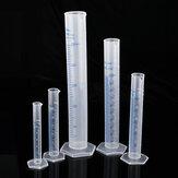 5本10/25/50/100 / 250mLプラスチックメスシリンダービーカーチューブフラスコカップ実験室スケール