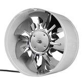 220 В 4/6/8/10 дюймов Inline Duct Fan Booster Вытяжной вентилятор Вентиляционное охлаждение Белый