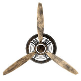 Vintage Airplane Propeller Wall Clock Metal Hanging Antique Bedroom Ornament Decorations