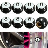 8pcs Universal Car Truck Motor Fiets Pool 8 Ball Band Lucht Valve Stam Caps Wheel Rim Caps Bolt