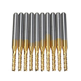 10pcs 1.5mm Tips 1/8 Inch Shank Carbide End Mill Engraving Bits for CNC PCB Rotary Burrs