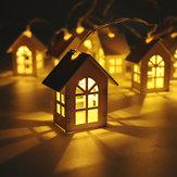 1 Adet Noel Ağacı Kolye Noel Ağacı Dekorasyon Noel Için Led Işık Ahşap Gece Lambaları