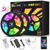 Светодиодные полосы RGB GLIME Светодиодные полосы длиной 10 м с управлением через приложение и синхронизацией музыки 5050 Светодиодные полосы с