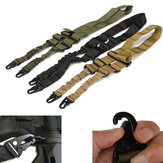 Two Point Sling Nylon Adjustable Hunting Waist Belt Strap With Buckle Hook