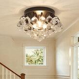Lâmpada de luz de teto de cristal 30 CM Pingente Luminária de lustre para casa Quarto de corredor E14