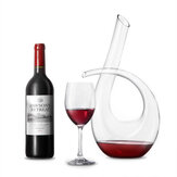 KC-RD82 1200ml Lead Free Crystal Glass Number 6 Shape Horn Wine Decanter Carafe Aerator Pourer