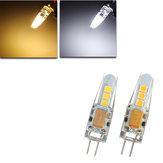 مصغرة g4 ليد الذرة لمبة 2 واط 6 سمد 2835 سيليكون الكريستال مصباح ضوء dc12v