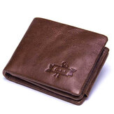 Men Multifunctional Large Capacity Coin Bag Trifold Wallet