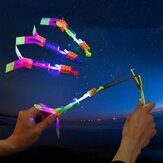 Amazing Toy LED Flash Rubber Band Helicopter Plane Toy For Kids