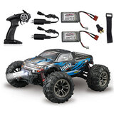 Xinlehong Q901 with Two Battery 1/16 2.4G 4WD 52km/h Brushless Proportional Control RC Car LED Light RTR Toys