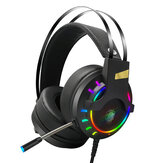 LUYS K3 Game Headphone 7.1 Channel 3.5mm USB Wired Bass RGB Gaming Headset Stereo Sound Headset with Mic for PS4 Computer PC Gamer