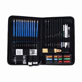 H & B HB-TZ65 48Pcs Skizzieren von Bleistiften Set Art Supplies Sketch Tool Set Malerei Bleistift Professionelle Zeichnung Skizzieren von Kunst Satz mit Tragetasche