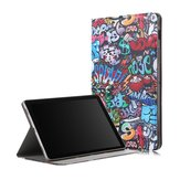 Folio Stand Tablet Case Cover voor Samsung Galaxy Tab S5E 10.5 SM-T720 SM-T725 - Doodle