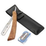 Palissanderhouten handvat met rechte rand Kapper Scheermes Opvouwbare scheersnijder met 10 messen