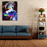 Rainbow Unicorn Paint By Number Kit DIY Cyfrowe Obrazy Olejne Płótno Home Decor