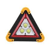 3COB+36LEDs1600LM 4 Modos Ao Ar Livre Portátil Lidar Com Luzes de Emergência Triângulo de Reparação de Carro Luz de Trabalho Lanterna