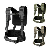Tactical H-Harness Waist Battle Cinturón Tirantes Caza Molle Chaleco Rig Rig