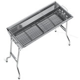 3-5 People Folding BBQ Grills Stainless Steel Charcoal Barbecue Stove Camping Picnic Patio