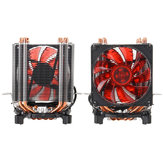 3 Pin Four Copper Pipes Red Backlit CPU Cooling Fan for Intel 1155 1156 AMD