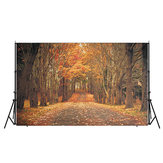 7x5ft Autumn Forest Background Photographie Backdrop Studio Photo Tissu de vinyle