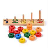 Baby Toys Count Match 1-5 Number Abacus Teaching Aids Arithmetic Wooden Toys Calculation Toys Child Educational Gift Math Toy