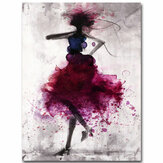 Fashion Rosso Girl Minimalista Abstract Art Tela Olio Stampa Quadri Incorniciato / Senza cornice