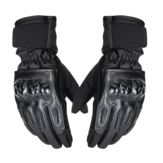 Tela sensível ao toque da motocicleta Luvas de dedos completos Outdoor Anti-Skid Winter Warm Waterproof Sports Black