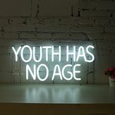 Youth Has No Age Neon Sign LED Tube Visual Artwork Bar Pub Club Wall Decor String Light