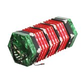 20-Button Concertina with Carrying Bag Adult Primary Playing Hexagon Accordion Keyboard Toys Gift for Kids Children