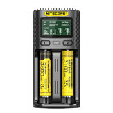 NITECORE UM2 / UM4 LCD-skjerm 5V / 2A Litium-batterilader USB QC Smart Rapid Charger For AA AAA 18650 21700 26650